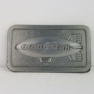 Vintage 1974 Goodyear Blimp Belt Buckle